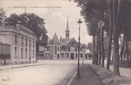 [60] Oise > Senlis La Gare Et La Banque De France - Senlis
