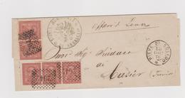 PIEVE DI SOLIGO - CASIER, 13 DIC 1876, Numerali A Punti 2642 - Storia Postale