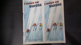 L'Hiver En Suisse Edité Par L'office National Suisse Du Tourisme Zurich Et Lausanne (Stations) - Dépliants Touristiques