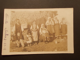 Carte Postale Photo - SERBIE - Famille Serbe 02/11/1917 (2314) - Serbie