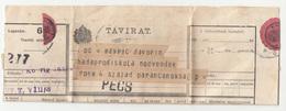 Hungary, Távirat Telegraph Sent From Pécs 191? B180710 - Télégraphes