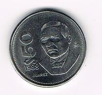 &   MEXICO  50 PESOS 1988 - Mexique