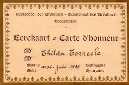 Eerekaart - Carte D'Honneur / Thilda Torreele - Mei - Juin 1936 - Diplomi E Pagelle