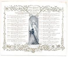 PORSELEINKAART BRUGGE 17.5X14 CM , PENSEES RELIGIEUSES PAR HENRI SAMUEL SOUS LIEUTENANT BRUGES 3 JUIL 1844 - Brugge