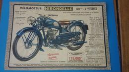 Publicite Velomoteur Hirondelle 1948 - Advertising