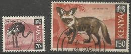 Kenya  - 1969 Issue Of Animals Used   SG 28 & 31 - Kenya (1963-...)