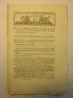 BULLETIN DES LOIS De 1800 - POLDERS DIGUES ESCAUT HOLLANDE BELGIQUE - PASSEPORTS - AMNISTIE - PRISONNIERS DE 16 ANS - Decrees & Laws