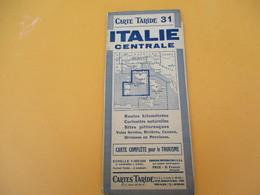 Carte TARIDE/n° 31/ ITALIE Centrale/Carte  Pour Le Tourisme/Portefeuille/Paris/Gaillac-Monrocq/ Vers 1930-40      PGC193 - Cartes Routières