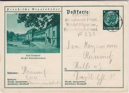 DR 3 Reich Ganzsache P 232 Bildpostkarte Bad Nenndorf Gel MWSt Essen 1933 - Deutschland