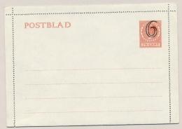 Nederland - 1929 - Postblad G17x - Ongebruikt - Entiers Postaux