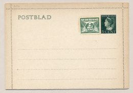 Nederland - 1940 - 5 Cent Konijnenburg, Postblad G20 - Ongebruikt Met Extra Zegel - Postal Stationery