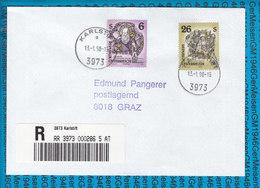 Austria Einschreiben Couvert 3973 Karlstift - Entiers Postaux