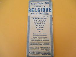 Carte TARIDE/n° 38/ BELGIQUE/Carte  Pour Le Tourisme/Portefeuille/Paris/Gaillac-Monrocq/ Vers 1930-40      PGC194 - Cartes Routières