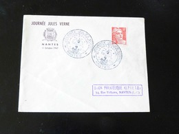 JOURNEE JULES VERNE  -  NANTES 1947  - - Marcofilie (Brieven)