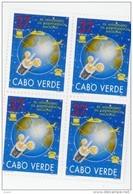 Cap Vert-Cabo Verde-1995-Espace,satellite-672***MNH EN BLOC DE 4 - Islas De Cabo Verde