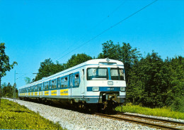 AK Eisenbahn Ismaning S-Bahn ET 420 1977 Schnellbahn Deutsche Bahn DB München MAN/MBB/AEG/BBC/SSW Deutschland Germany - Eisenbahnen