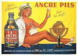 PUB Publicité NUGERON J 120 Biére D'Alsace ANCRE PILS Tue La Soif   (-Bibliothéque Fornay*PRIX FIXE - Advertising