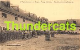 CPA  3 EME REGIMENT DES LANCIERS BRUGES BRUGGE PANSAGE DES CHEVAUX BORSTELING EN KAMMING DER PAARDEN - Brugge