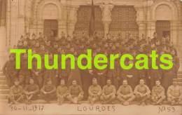 CPA  CARTE DE PHOTO FOTOKAART   WEVELGEM WEVELGHEM SOLDATEN 1914 1918 IN LOURDES - Wevelgem