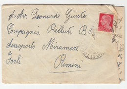 Italy, Nizza Cavalleria Letter Cover Travelled 1938 Torino To Rimini B180710 - 1900-44 Vittorio Emanuele III