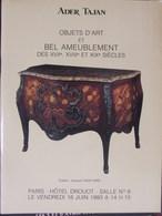 Catalogue De Ventes Ader-Tajan - Objets D'Art Bel Ameublement - 1993 - Non Classés