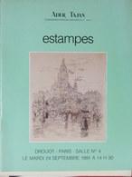 Catalogue De Ventes Ader-Tajan - Estampes - 1991 - Documentos Antiguos