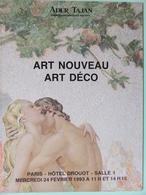 Catalogue De Ventes Ader-Tajan - Art Nouveau Art Déco - 1993 - Sin Clasificación