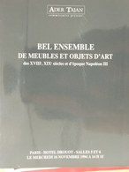 Catalogue De Ventes Ader-Tajan - Ensemble Objets D'Art Et De Meubles - 1994 - Oude Documenten