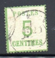 Alsace Lorraine  / N 4 / 5 Centimes Vert  / Oblitéré / Côte 20 € - Alsace-Lorraine