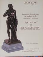Catalogue De Ventes Ader-Tajan -Objets D'art Et Bel Ameublement - 1995 - Vecchi Documenti