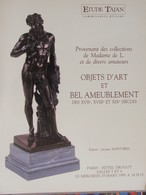 Catalogue De Ventes Ader-Tajan -Objets D'art Et Bel Ameublement - 1995 - Old Paper