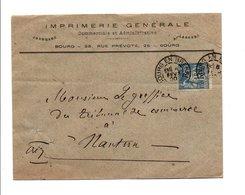 SAGE SUR LETTRE DE BOURG EN BRESSE AIN DU 6/2/1900 - Marcofilia (sobres)