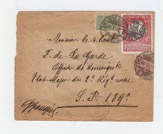 Sur Enveloppe. Deux Timbres Armoieries. Un Timbre De Bienfaisance 3 K. Cosaque Du Don. Cachets Dates 1917. (569) - 1917-1923 République & République Soviétique