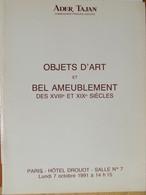 Catalogue De Ventes Ader-Tajan -Objets D'art Et Bel Ameublement - 1991 - Unclassified