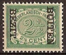 Nederlands Indie NVPH Nr 84f Ongebruikt (MLH, Neuf Avec Charniere) Opdruk BEZIT BUITEN - Niederländisch-Indien