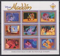 2313 - WALT DISNEY - GUYANA  ( Aladdin ) The, Abu,and The Magic Carpet In The Cave Of Wonders  . - Disney