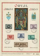 Belg. 1943 - 625/6307 Orval Sierletters/Série Lettrines  Abbaye/Abdij Orval 8-10-1943 (2 Scans) - FDC