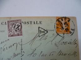 OBLITERATION  VERNON  EURE   TAXE SUR CARTE POSTALE  COLLINE DE  VERNONET - Postmark Collection (Covers)