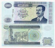 SADDAM IRAQI 100 DINAR NOTE *UNC* IRAQ MONEY - Iraq