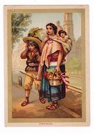 Jolie Chromo (9,5 X 13,5 Cm) Cadre Doré, Fin XIXe Siècle, Petits Métiers Au Mexique, Vandimiera - Autres
