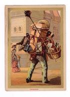 Jolie Chromo (9,5 X 13,5 Cm) Cadre Doré, Fin XIXe Siècle, Petits Métiers Au Mexique, Cargador - Autres