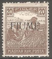 1918 - FIUME Zetelice 20 Fil MH - Croatia