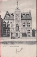 Melle 1905 Maison Communale Gemeentehuis Reclame G. Van Reysschoot Fabricant De Bonneterie Melle Lez Gand Gent - Melle