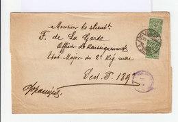 Sur Enveloppe Deux Timbres Armoiries 2 K. Oblitération Mockba. Correspondance Militaire. (577) - 1917-1923 République & République Soviétique