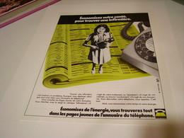 ANCIENNE PUBLICITE ANNUAIRE PAGES JAUNES 1979 - Publicité