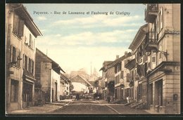 CPA Payerne, Rue De Lausanne Et Faubourg De Glatigny - VD Vaud
