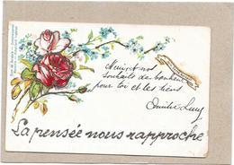 CPA COLORISEE FANTAISIE - LA PENSÉE NOUS RAPPROCHE   - LYO1/BORD - - Fancy Cards