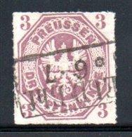 Prusse / N 14 / 3 P Lilas / Oblitéré / Côte 50 € - Prussia