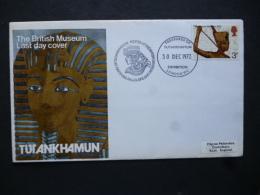 GREAT BRITAIN [UK]   POSTMARK  1972 TREASURES OF TUTANKHAMUN EXHIBITION POSTED AT BRITISH MUSEUM - Postmark Collection