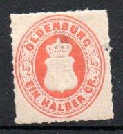 Oldenbourg / N 16 / 1/2 G Orange /  NEUF Sans Gomme Avec Charnière - Oldenbourg